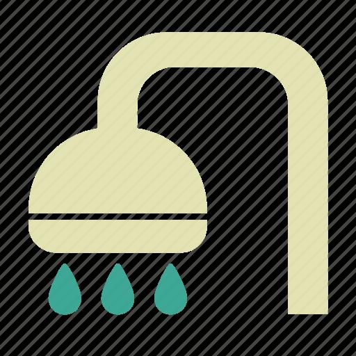 bath, shower, shower head, spa, wash icon
