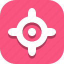 focus, location icon
