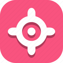 focus, location icon
