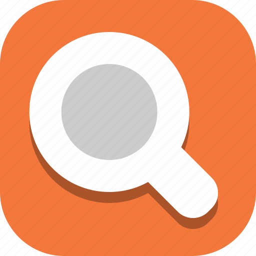 glass, magnifying, search icon