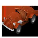 car, orange icon