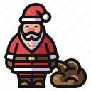 christmas, gifts, holiday, presents, santa, winter icon