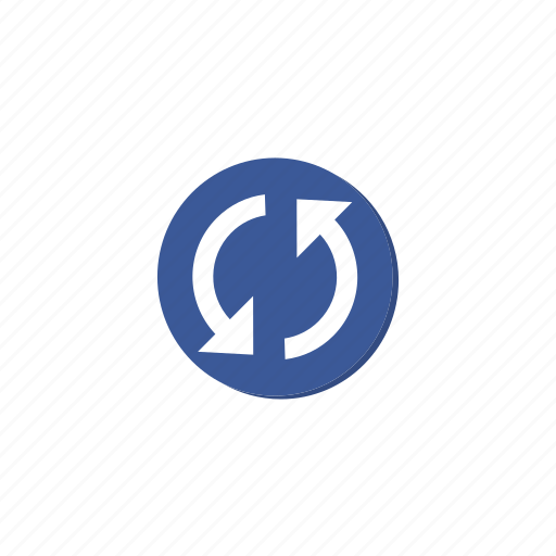 circle, cycle, darkblue, refresh, reload, sync, update icon