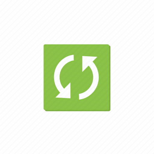 cycle, green, refresh, reload, rounded, sync, update icon