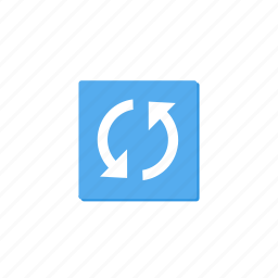 cycle, lightblue, refresh, reload, rounded, sync, update icon