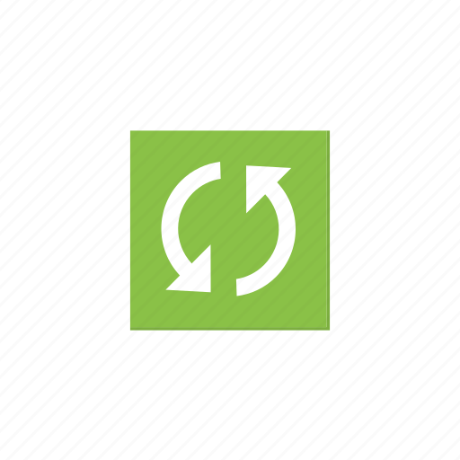 cycle, green, refresh, reload, square, sync, update icon