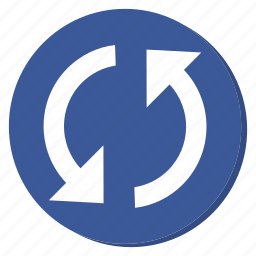 circle, cycle, darkblue, reload, sync, update icon