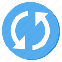 circle, cycle, lightblue, reload, sync, update icon