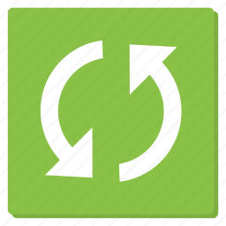 cycle, green, reload, rounded, sync, update icon