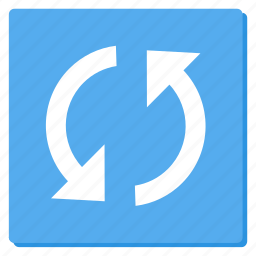 cycle, lightblue, reload, rounded, sync, update icon