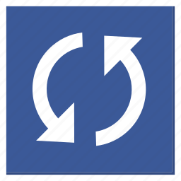 cycle, darkblue, reload, square, sync, update icon