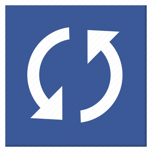 Cycle, darkblue, reload, square, sync, update icon - Download on Iconfinder