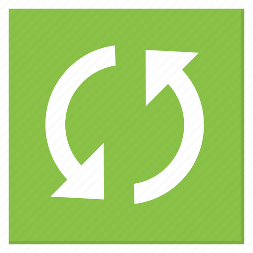 cycle, green, reload, square, sync, update icon