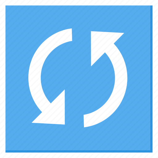 cycle, lightblue, reload, square, sync, update icon