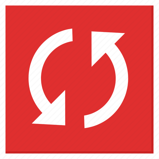 Cycle, red, reload, square, sync, update icon - Download on Iconfinder