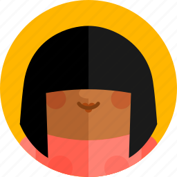 avatar, character, female, girl, people, profile, woman icon