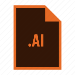adobe, extension, format, illustrator icon