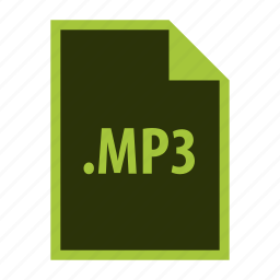 audio, extension, format, mp3, multimedia icon