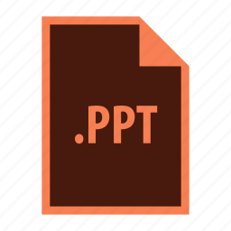 extension, file, graph, office, powerpoint, ppt, presentation icon