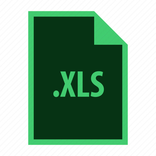 document, excel, extension, format, office, xls icon
