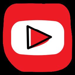 communication, media, network, social, social media, web, youtube icon