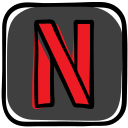 media, movies, netflix, series, social, streaming, tv icon