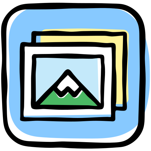 Media, photography, photos, pictures, presentation, social, view icon - Free download