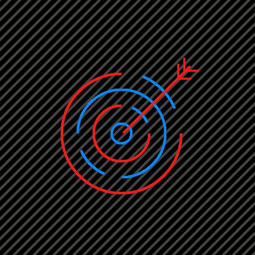 aim, business, dart, goal, success, target icon
