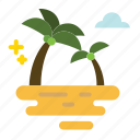 beach, coconut, island, tree icon