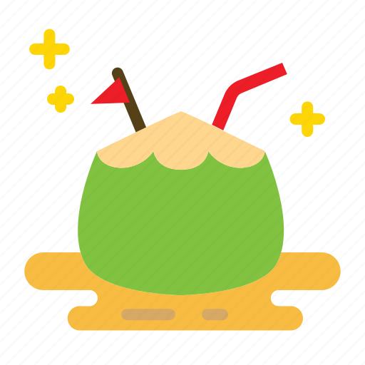beverage, coconut, drink, summer icon