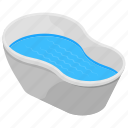 apartment bath, bathroom interior, bathtub, jacuzzi, water tub icon