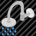 lavatory shower, plumbing, shower head, washroom shower, washroom water, water drops icon