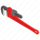 cutting element, pipe cutter, pipe wrench, plastic cutter, plumbing tool icon