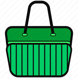adventure, bag, colorful, green, mall, shopping icon