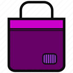 adventure, bag, goodie, mall, market, shopping, violet icon