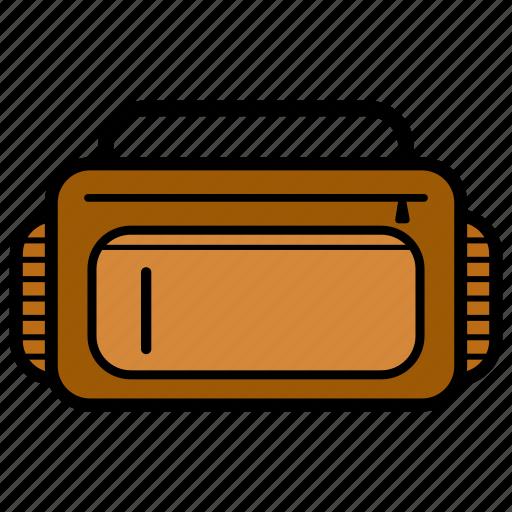 adventure, bag, big, brown, colorful, suitcase icon