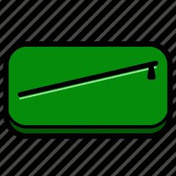 adventure, bag, green, money, school icon