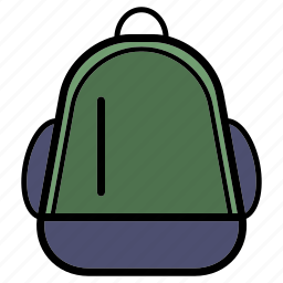adventure, backpack, bag, college, office, school, student icon