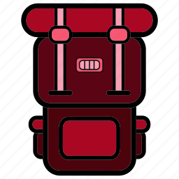 adventure, backpack, bag, college, hiking, mountain, travel icon
