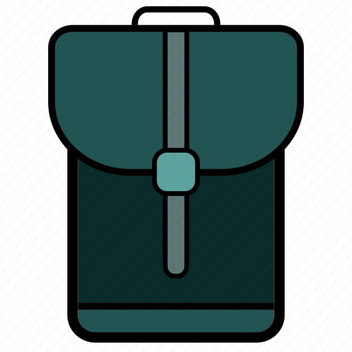 backpack, bag, college, girl, school, student, university icon
