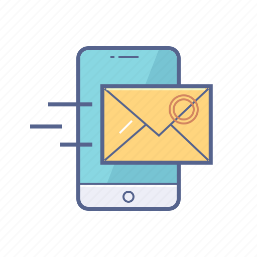letter, mail, message, mobile icon
