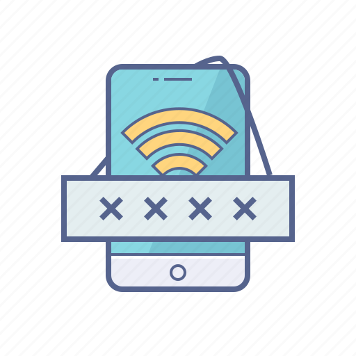 mobile, network, password, wifi icon