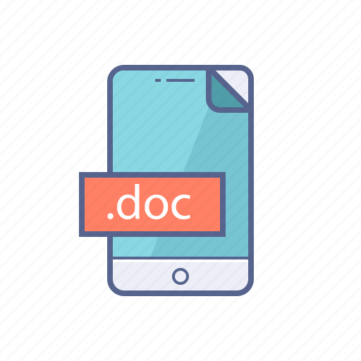 document, file, format, mobile icon