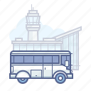 airport, bus, shuttle, transfer, travel icon