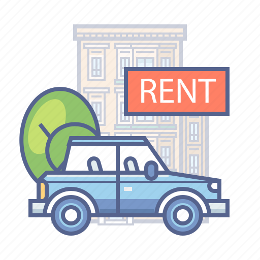car, hotel services, rent, transport icon