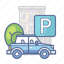car, hotel services, parking, transport icon