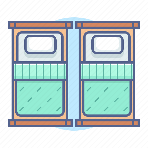 bed, hotel, hotel services, room icon