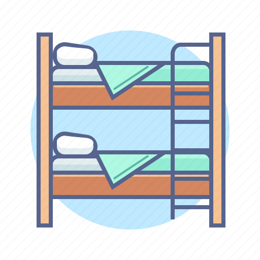 bed, double, hostel, hotel, hotel services icon