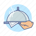 delivery, dinner, food, hotel, kitchen, restaurant, service icon