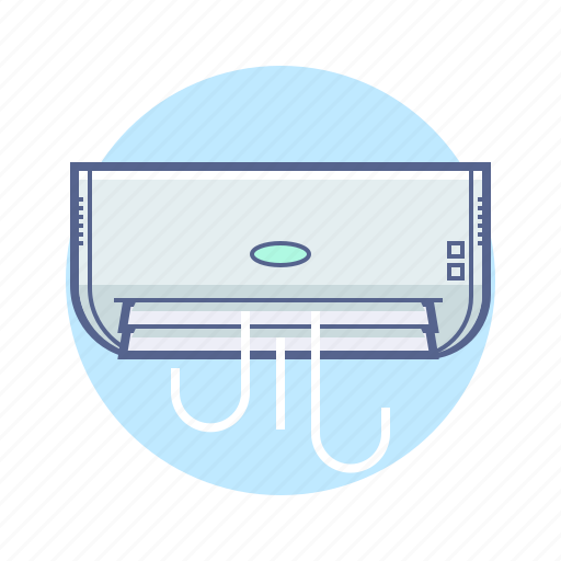 air, air conditioning, appliance, hotel services icon
